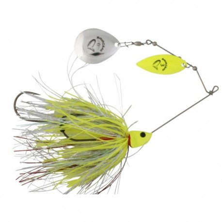 Spinnerbait Savage Gear Da Bush Yellow Silver, 16cm, 32g