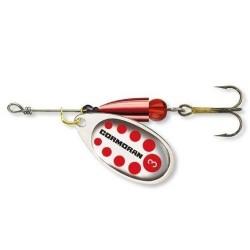 Lingurita Rotativa Cormoran Bullet, Silver-Red, nr.1, 3g