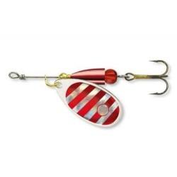Lingurita Rotativa Cormoran Bullet, Silver-Red-Tiger, nr.2, 4g