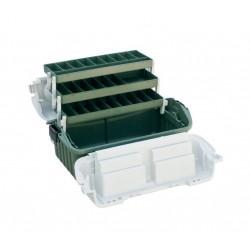 Cutie pescar cu 3 sertare si un compartiment pentru momeli spinning, 520x280x260mm
