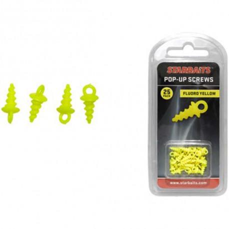 Pop-Up Screws Pentru Carlig Yellow 15Buc/Plic