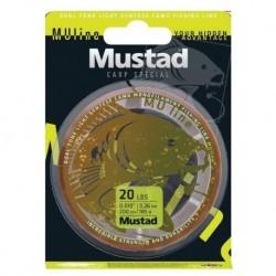 Fir Monofilament Mustad Carp Special, Rezistenta 5.4 kg, 1200 m, 0.28 mm, Maro