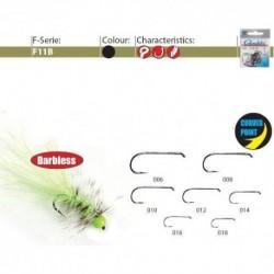 Carlige Gamakatsu Pentru Muste F11B BL, Fara Spin, Nr.12, Tip Ochet, 25 Buc/Plic