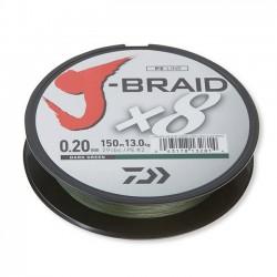 Fir Textil Daiwa J-Braid X8, Rezistenta 6 kg, 150 m, 0.10 mm, Verde