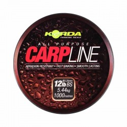 Fir Monofilament Korda Carp Line, Rezistenta 5.4 kg, 1000 m, 0.35 mm, Verde