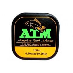 Fir Monofilament Atm Angler, Rezistenta 4.9 kg, 100 m, 0.20 mm