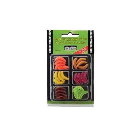 Set Naluci Maggot Worms 2Cm Diverse Culori, 24 Buc/Plic