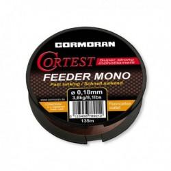 Fir Monofilament Cormoran Cortest Feeder S, Rezistenta 5.2 kg, 135 m, 0.25 mm, Maro