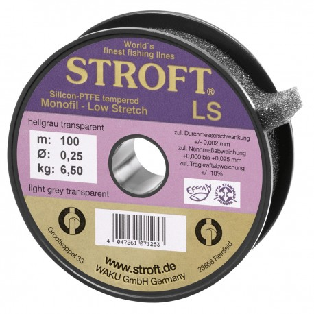 Fir Monofilament Stroft Ls, Rezistenta 3.7 kg, 100 m, 0.18 mm, Gri