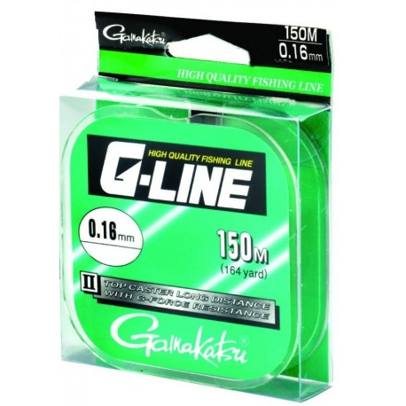 Fir Monofilament Gamakatsu G-Line Top Caster, Rezistenta 2.2 kg, 150 m, 0.16 mm, Transparent