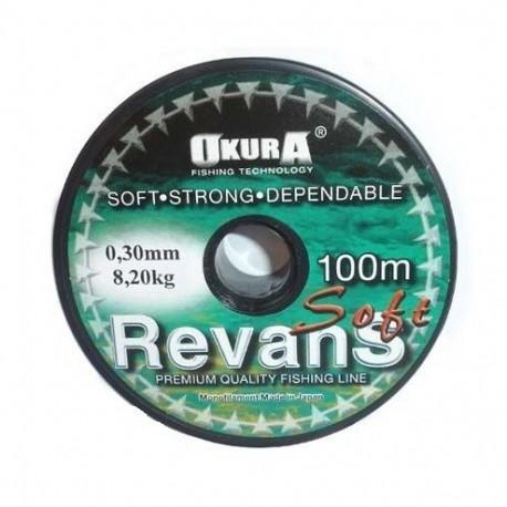 Fir Monofilament Angler Revans, Rezistenta 1.9 kg, 100 m, 0.14 mm, Verde