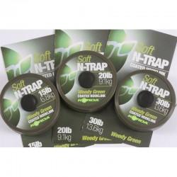 Fir Textil Korda N-Trap Soft Coated, Rezistenta 6.8 kg, 20 m, Verde
