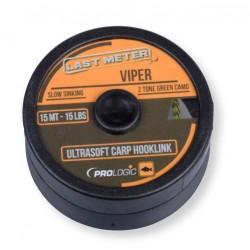 Fir Textil Prologic Viper Ultrasoft Ss, Rezistenta 6.8 kg, 15 m, Verde/Negru