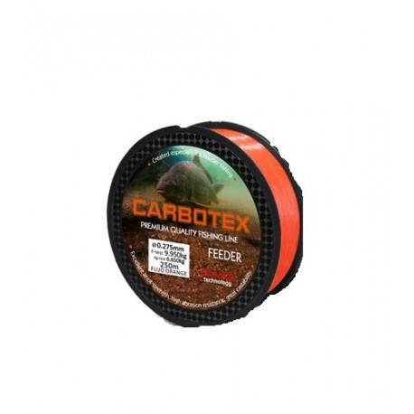 Fir Monofilament Carbotex Feeder Dm, Rezistenta 8.6 kg, 250 m, 0.24 mm, Portocaliu