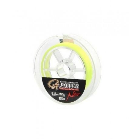 Fir Textil Gamakatsu G-Power Premium Braid Neo Yellow, 0.09Mm/6,3Kg/135M