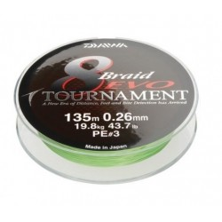 Fir Textil Daiwa Tournament 8 Braid Evo Dark Green, 0.18Mm/15,8Kg/300M