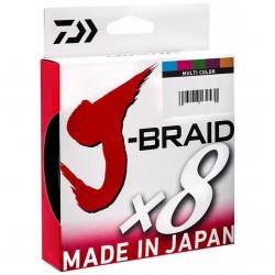 Fir Textil Daiwa J-Braid X8 Multicolor, 0.13Mm/8Kg/150M
