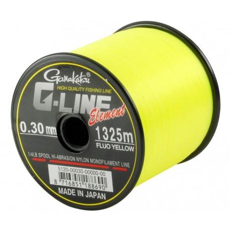 Fir Gamakatsu G-Line Yellow, 0.30Mm/6,50Kg/1325M