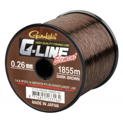 Fir Gamakatsu G-Line Element Dark Brown, 0.26Mm/5,1Kg/1855M