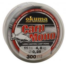 Fir Monofilament Okuma Carp, Rezistenta 7.3 kg, 300 m, 0.33 mm, Maro