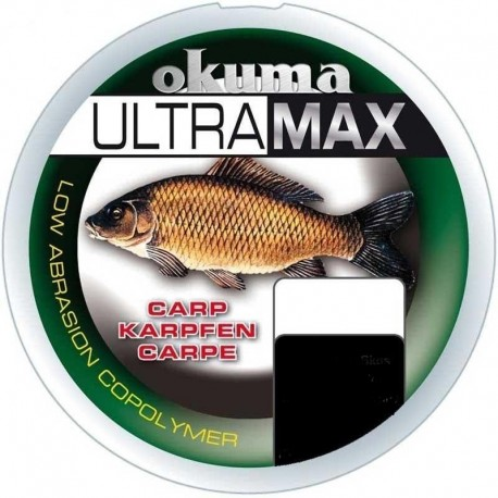 Fir Monofilament Okuma Ultramax Carp, Rezistenta 12 kg, 250 m, 0.40 mm, Maro