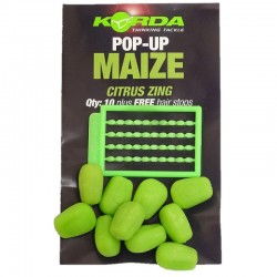 Porumb Artificial Korda Pop-Up Citrus Verde 12Buc/Plic