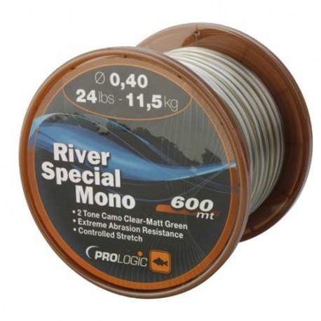 Fir Monofilament Prologic River, Rezistenta 11.5 kg, 600 m, 0.40 mm, Verde/Maro