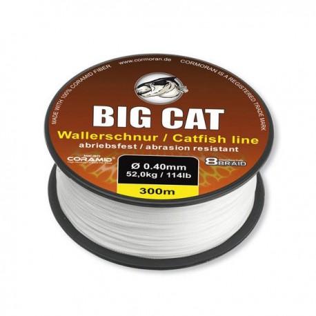 Fir Textil Cormoran Big Cat 8X Braid White, 0.50Mm/68Kg/300M