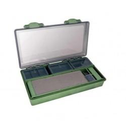 Cutie pentru accesorii crap, inclus 6 cutii si 2 stative pentru monturi, 340x175x60mm