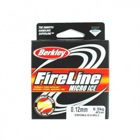 Fir Textil Berkley Fireline Micro Ice Gri, Rezistenta 10.2 kg, 45 m, 0.17 mm, Gri