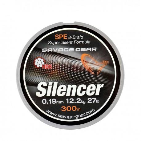 Fir Textil Savage Gear Hd8 Silencer, Rezistenta 32 kg, 120 m, 0.32 mm, Verde