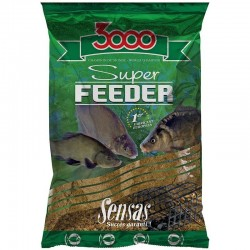 Nada Groundbait Sensas 3000 Super Feeder, 1 kg, River Black