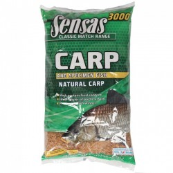 Groundbait Sensas 3000 Carp and Specimen Fish, 1kg, Natural Carp