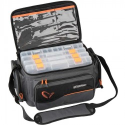 Geanta Savage Gear System Box Bag L + 4 Cutii, 24x47x30cm