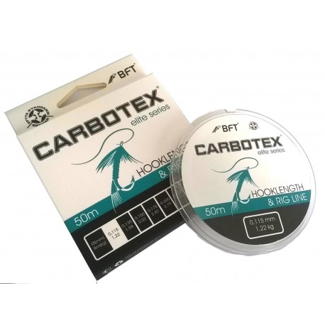 Fir Monofilament Carbotex Hooklength&Rig Line, Rezistenta 1.2 kg, 50 m, 0.11 mm, Transparent