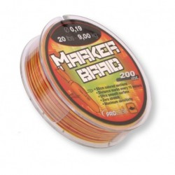 Fir Textil Prologic Marker Braid, Rezistenta 9 kg, 200 m, 0.19 mm, Rosu/Galben