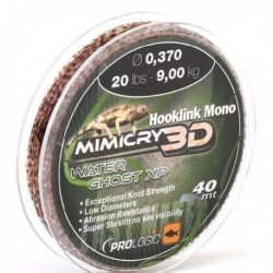 Fir Monofilament Prologic Mimicry 3D Water Ghost Xp Hooklink Mono, Rezistenta 15.5 kg, 30 m, 0.50 mm, Maro/Negru