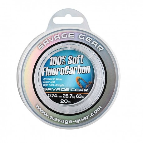 Fir Fluorocarbon Savage Gear Soft, Rezistenta 3.5 kg, 50 m, 0.22 mm, Transparent