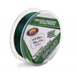 Fir Textil Japan Braid X4, Rezistenta 14 kg, 150 m, 0.25 mm, Verde