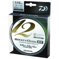 Fir Textil Morethan X12 Ex+Si, Rezistenta 5.8 kg, 135 m, 0.08 mm, Verde