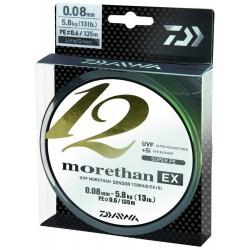 Fir Textil Morethan X12 Ex+Si, Rezistenta 7.3 kg, 135 m, 0.10 mm, Verde