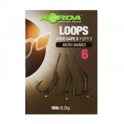 Montura Wide Gape Loop Microbarbed Nr.6/18Lb