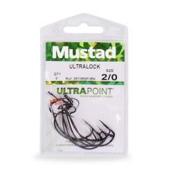 Carlige Mustad Offset Ultrapoint, Black Nickel, Nr.1/0 - 7 Buc/Plic