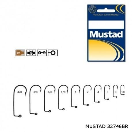 Carlige Mustad M32746BR Bronz pentru Jig/Twister, Nr.4 - 100 Buc/Plic