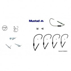 Carlige Mustad M91768UB18 Lestat pentru Jig/Twister, Nr.4/0 - 3 Buc/Plic