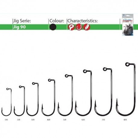 Carlige Gamakatsu Pentru Jig 90 BL, Nr.6/0 - 25 Buc/Plic