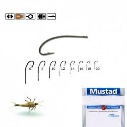 Carlige musca Mustad Signature C53S, Bronz, Nr.14, Tip Ochet, 10 Buc/Plic