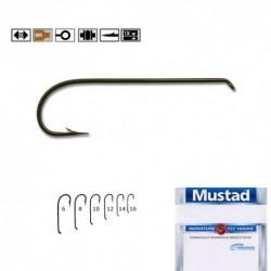 Carlige Musca Forjate Mustad R43, Nr.12, Tip Ochet, 25 Buc/Plic