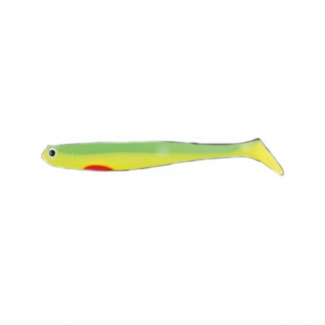 Shad Lineaeffe Nomura Original 10 Cm, 7.8 G Chart Yellow Red, 6 Buc/Plic