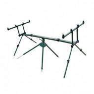 Rod Pod Din Aluminiu Pentru 4 Lansete Crap, 128 Cm, 4 Picioare, Geanta Transport, Baracuda